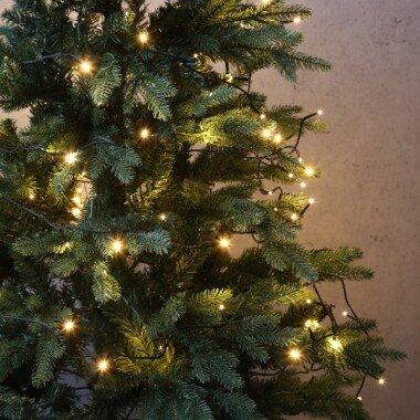LED Lichterkette Outdoor 100 warmweiße LED L: 9,9m Timer 8 Funktionen