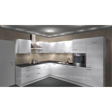 Einbauküche MANKAECO 50 Weiß Hochglanz...