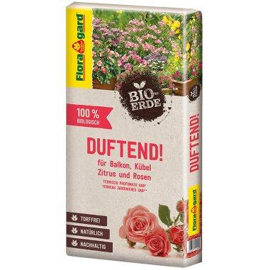 Floragard Bio-Erde Duftend 1x40 l für Rosen, Balkonpflanzen, Kübelpflanze