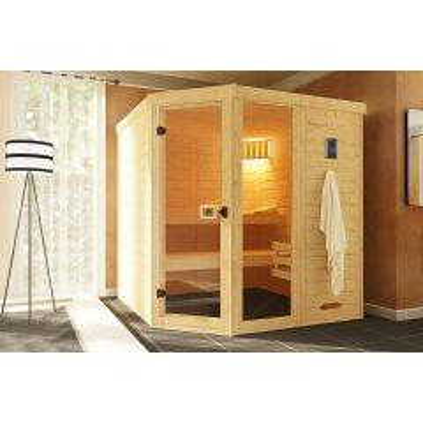 Weka Sauna 38 mm Laukkala 2 inkl. Saunaleuchten-Set...