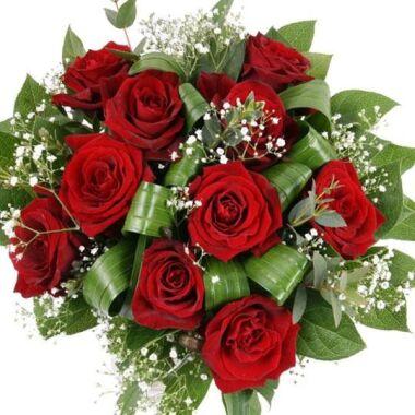 Rosenstrauß Traum in Rot Premium-Rosen