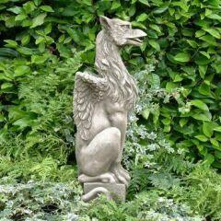 Große Garten Drachenskulptur Gryphon