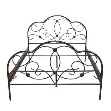 Metallbett in Schwarz Romantisches Design