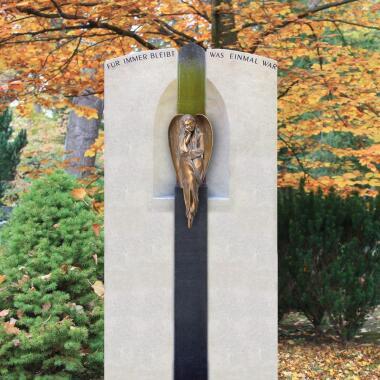 Engelgrabstein Urnengrab mit Bronze...