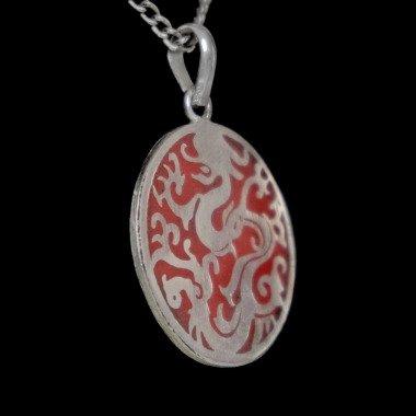 Handgearbeitetes Drachen-Amulett Aus...