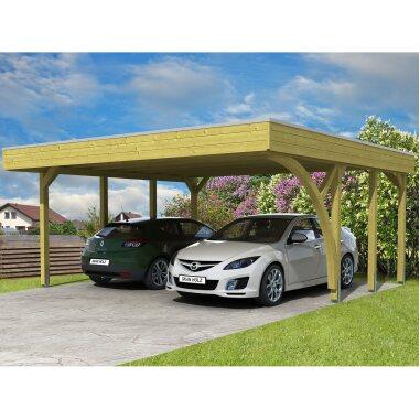 Skan Holz Flachdach-Doppelcarport Friesland...