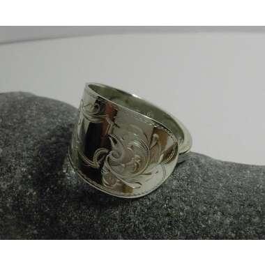 Besteck - Ring Silber, Mit Gravur, Schiene...