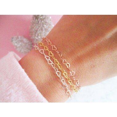 Herz Armband 925 Sterling Silber Gold Roségold Für Muttertag | Herzchen