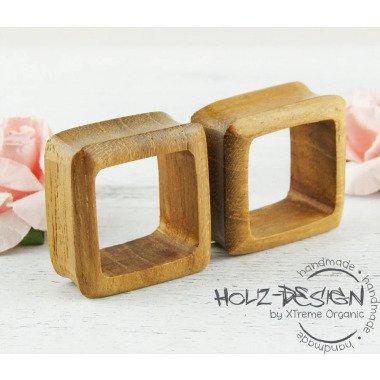 Sale 3-30mm Paar Pair Holz Flesh Tunnel Viereck Square Plug Handgefertigt