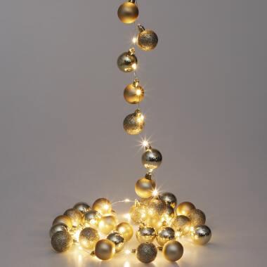Lichterkette Weihnachten LED Gold 2m Kugeln