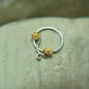 Nasenring Kleiner Tragus Ohrring Helix Piercing Knorpel 14K Gold Filled 18 & 1
