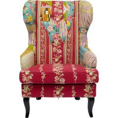 Ohrensessel Patchwork Red