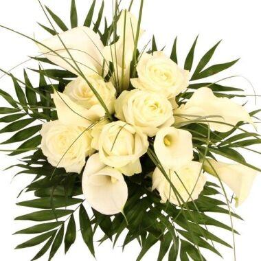 Premium Rosen und Calla White Elegance
