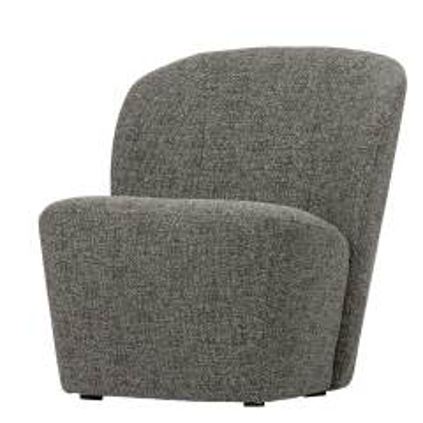 Retro Sessel in Grau Webstoff