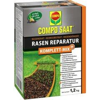 Compo Saat Rasen-Reparatur Komplett Mix+ 1,2 kg für bis zu 6 m²