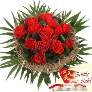 Blumenstrauß Rosentraum Rote Rosen Pur