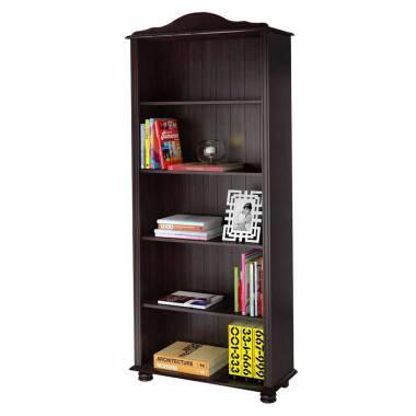 Bücherregal in Wengefarben Kiefer Massivholz