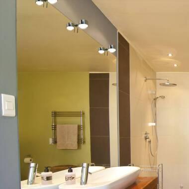 LED-Spiegelklemmleuchte Puk Fix+, chrom