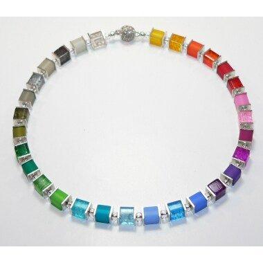 Kette, Halskette, Würfelkette, Cube, Glas Würfel Crash, Polaris Würfel