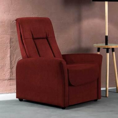 Roter Relaxsessel mit Armlehnen Rücken verstellbar