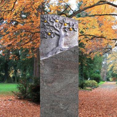 Gedenkstein Naturstein mit Lebensbaum...