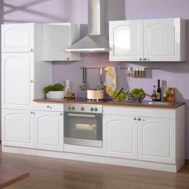 Küchenzeile in Weiß Laundhausstil (sechsteilig)