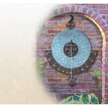 Wandsonnenuhren - Vertikale Sonnenuhr Wandsonnenuhr Bronze bei Stilvolle Gartenskulpturen