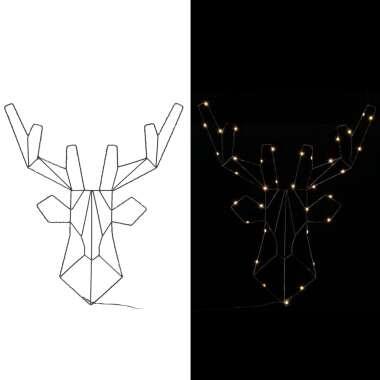 LED Rentier Weihnachten Metall Warmweiß