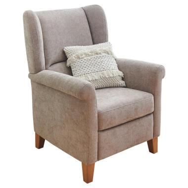 Pure Home Comfort Ohrensessel , Taupe , Textil , Eiche , 80x101x87 cm