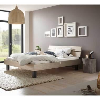 Bett Kombination in Silberfarben und...