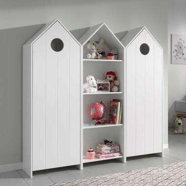 Kindermöbel Set in Weiß Haus Optik (dreiteilig)