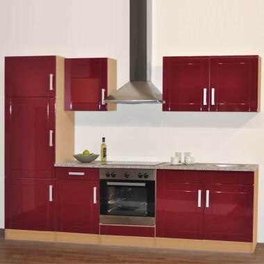 Küchenblock in Hochglanz Rot (sechsteilig)