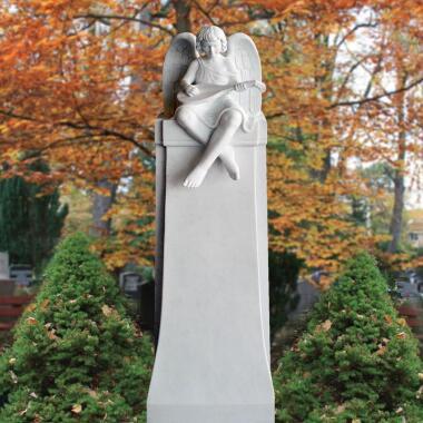 Familiengrabmal Marmor Engel Junge weiß - Raphael bei Serafinum