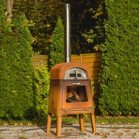 Holzofen für den Garten mit Pizzamodul...