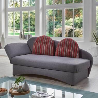 Funktions Sofa in Grau und Rot gestreift...