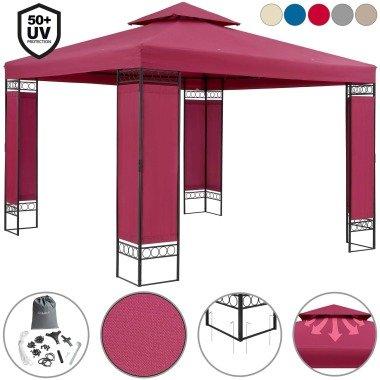Pavillon Lorca - 3x3m - mit Dachhaube...