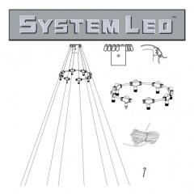 System LED White   Fahnenmast-Zubehör-Set...