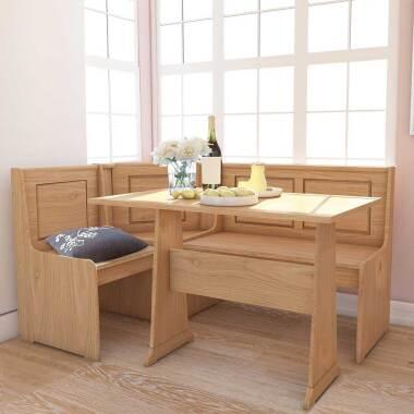 Esszimmer Sitzecke aus Kiefer Massivholz Landhaus Design (zweiteilig)