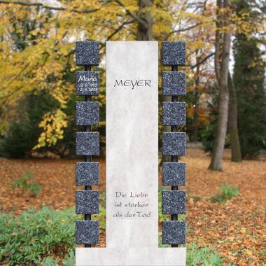 Mehrteiliger Urnengrabstein modern gestaltet...