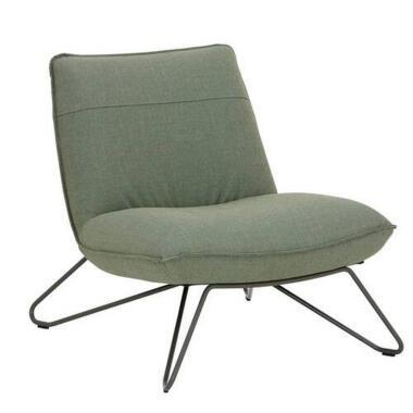 Rolf Benz Sessel 394 , Hellgrün , Textil , 75x79x92 cm , Goldenes M, Made