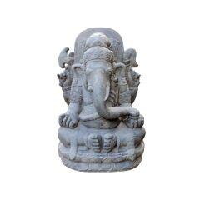 Sitzender Ganesha Gartendeko-Skulptur...