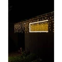 Konstsmide Konstsmide Lichtervorhang-Eisregen Außen 24 V 200 LED Bernstein