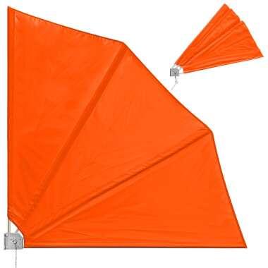 Balkonfächer 2er-Set Orange 140x140cm...
