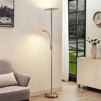 Lindby Kavi LED-Deckenfluter mit Leselicht, eckig