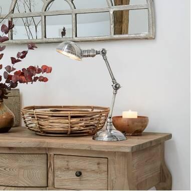 LOBERON Tischlampe Toulon, antiksilber (57cm)