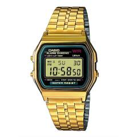 Digitaluhr-Chronograph Casio Gelbgoldfarben