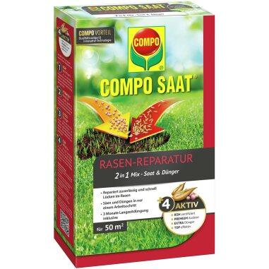 Compo Saat Rasen-Reparatur-Mix Samen und Dünger 50 m² 1,2 kg
