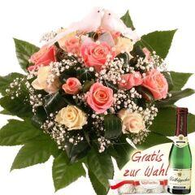 Hochzeits- Träumerei Blumen zur Hochzeit Rosa / Wei