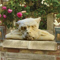 Mauerhocker Gargoyle Gartenskulptur...