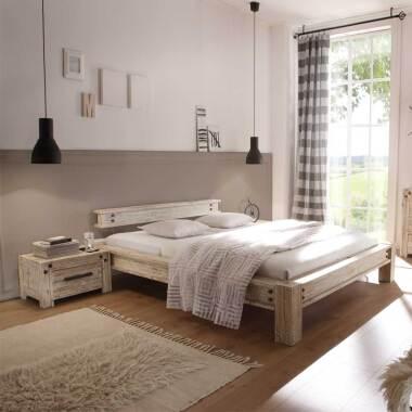 Designerbett im Vintage Style Akazie...